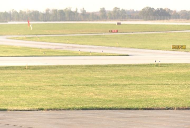 Runway sits empty at the Quincy Regional Airport.