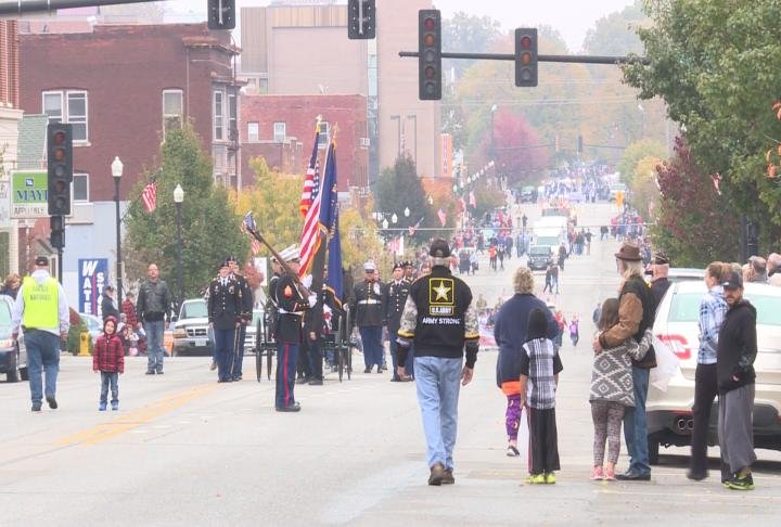 The Veterans Parade in Quincy