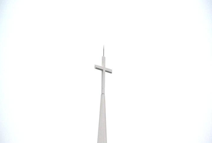 The steeple at Madison Park Christian Church