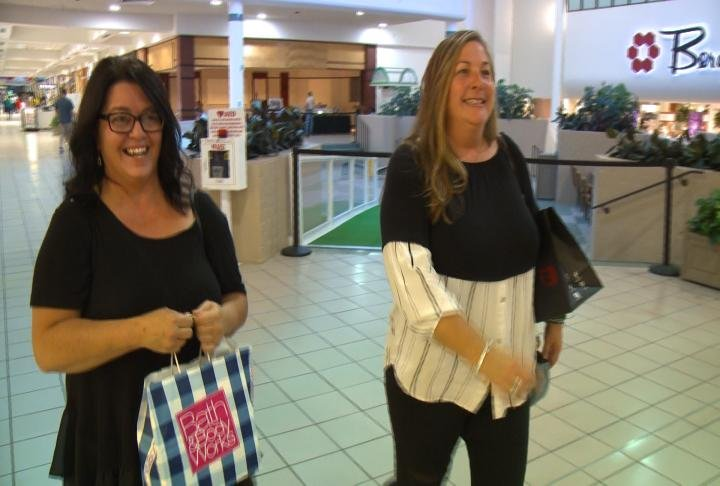 Shoppers at the Quincy Mall