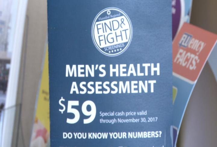 Men's health screenings are available for $59.