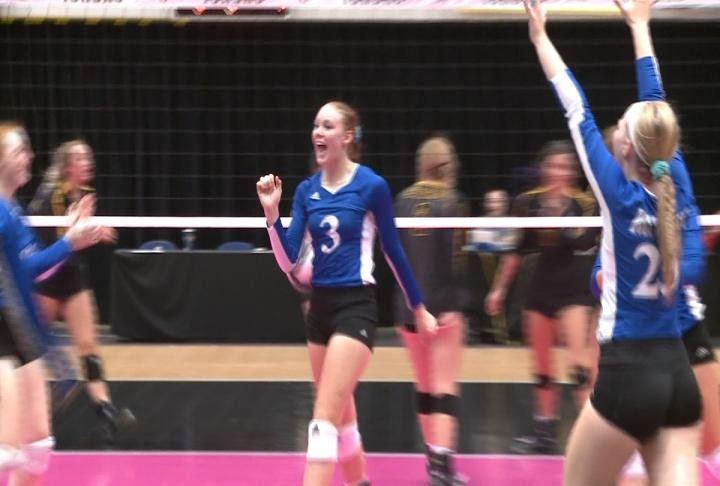 Emily Box had a match best 25 kills to lift Holy Trinity to a win in the state tournament quarterfinals.
