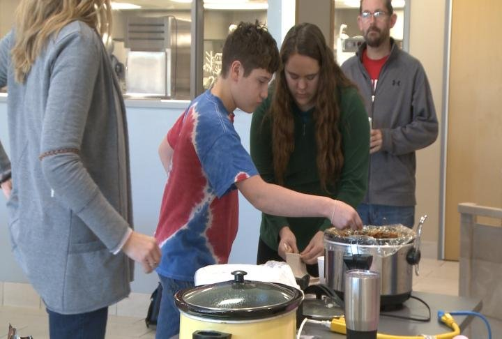 The school said staff prepared the soup and the students judged.