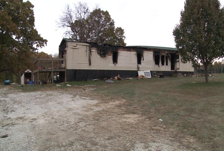 This is the mobile home that caught fire on Monroe Road 857.