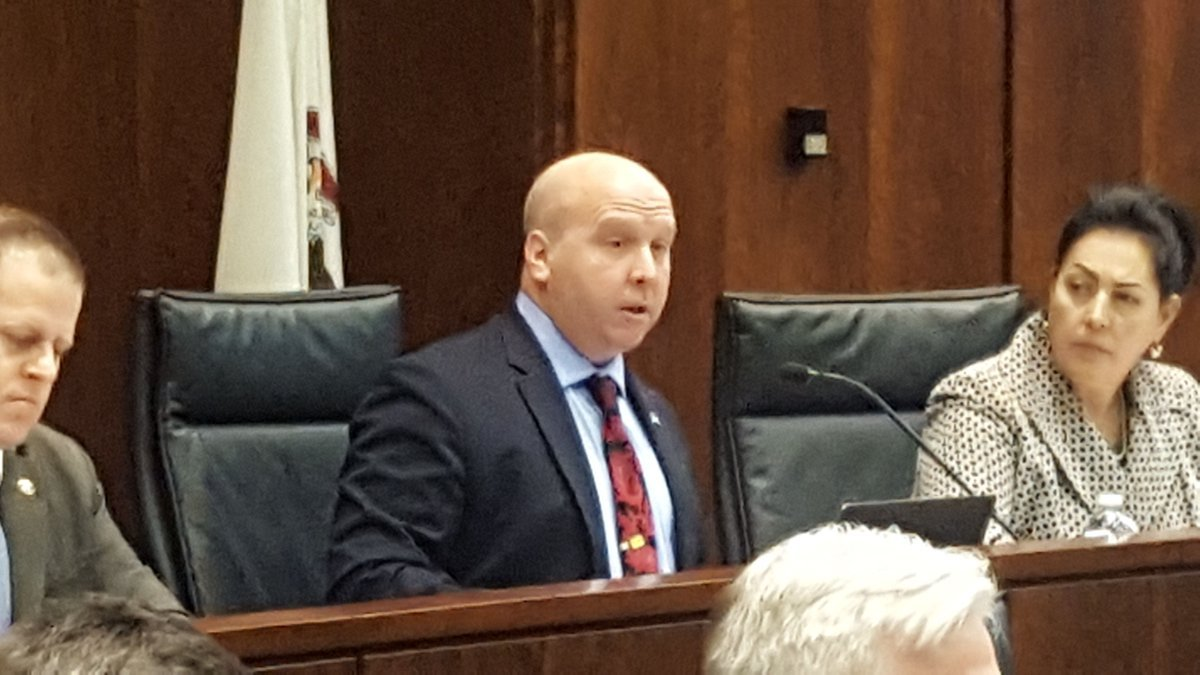 Illinois Senator Tom Cullerton starts the hearing.