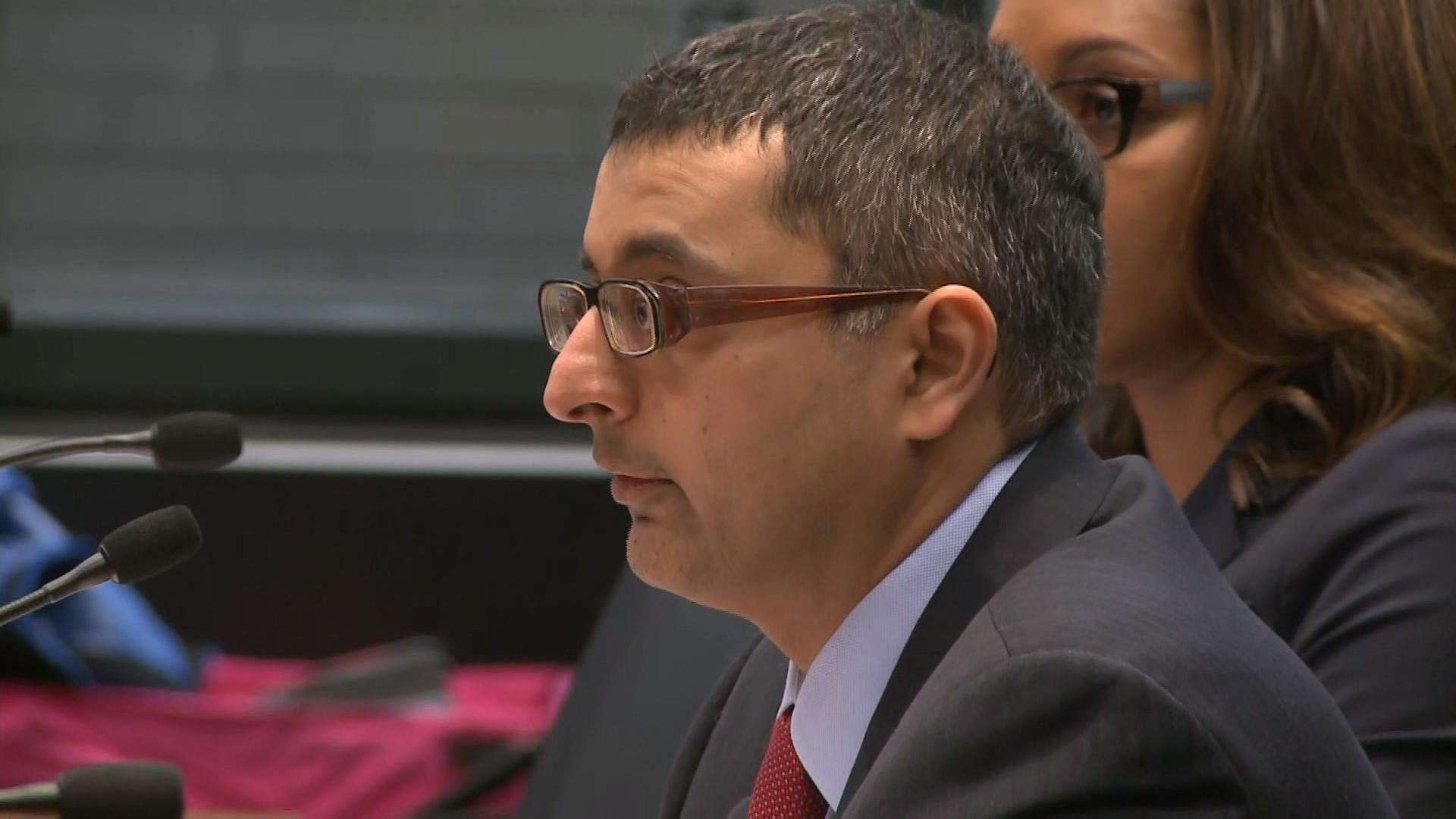 Dr. Nirav Shah, director of the Illinois Department of Public Health, testifies in Chicago Tuesday that part of the problem with diagnosing Legionnaires' disease at vets' home is because it takes several days for the hospital to get test results back.