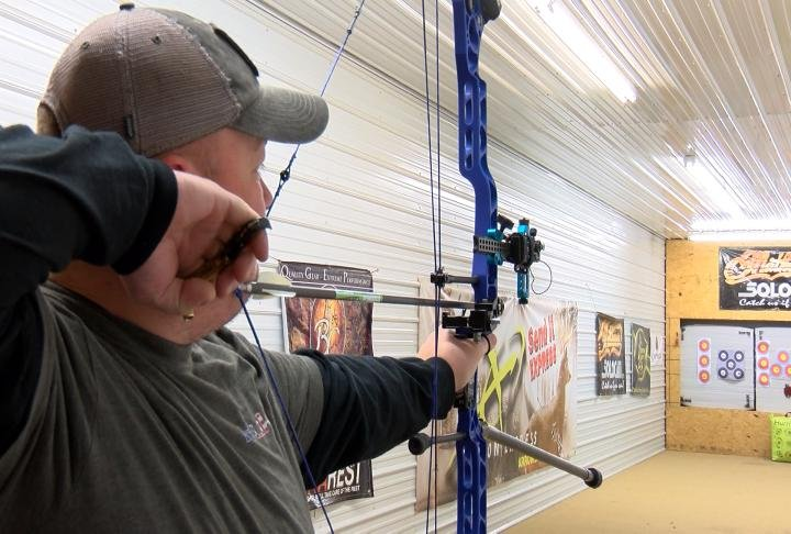 Bow hunter at the range