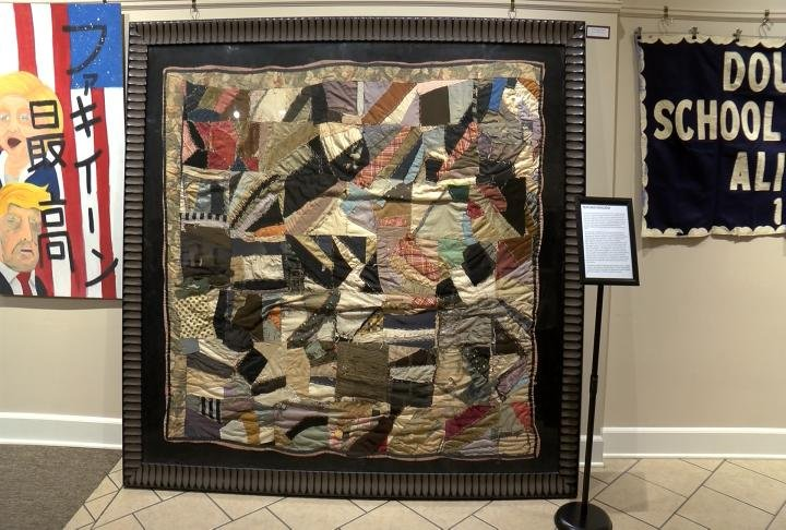 One of the stand out pieces was this quilt, which was created by a former slave in the late 1800s.