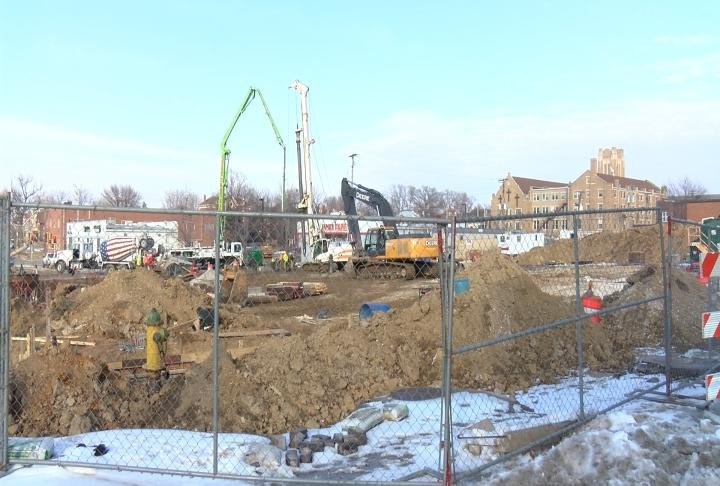 Construction continues on the new Adams County Jail.