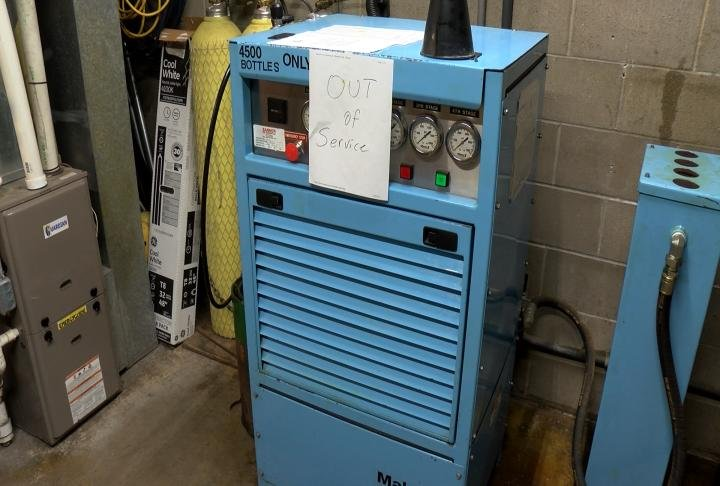 The Hannibal Fire Department's previous compressor is no longer working.