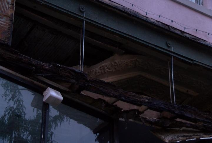 Milly's Abby Rose Art Gallery was also damaged from the storm.
