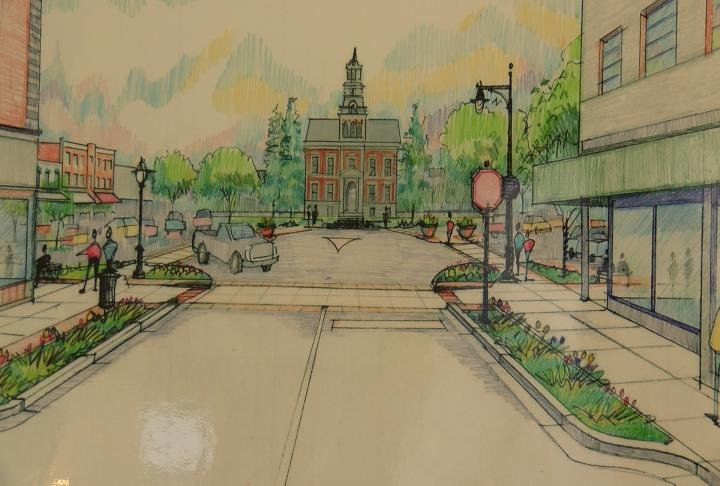 An artist rendering of the project goal.