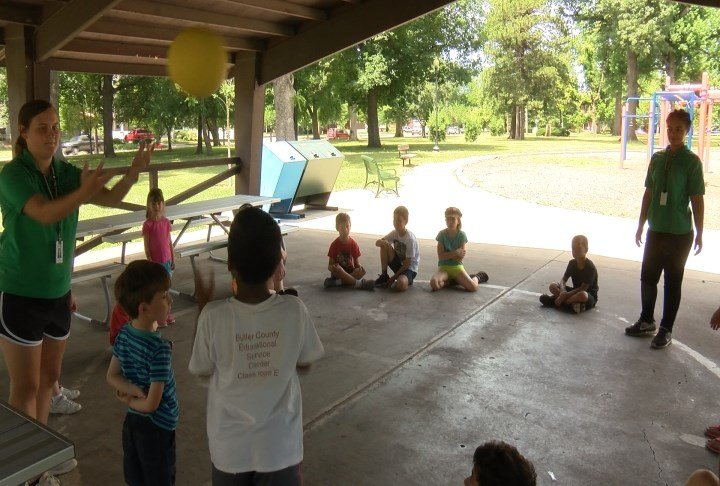 Kids play game at Summer-Playground