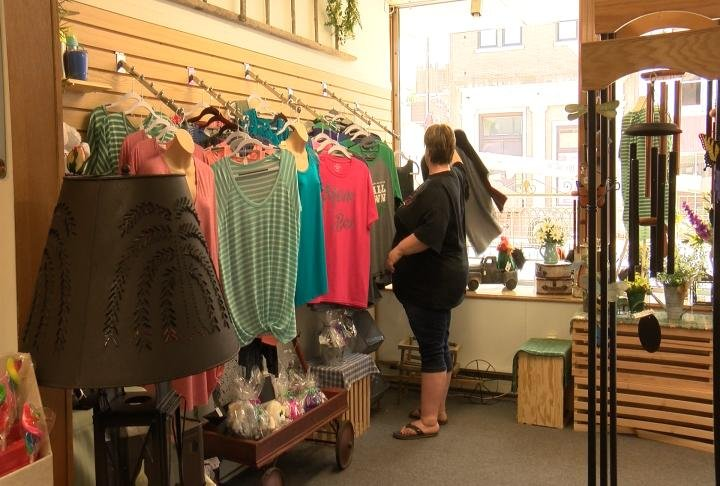 Store owner Stacee Rohn in her store, Perfectly Imperfect.