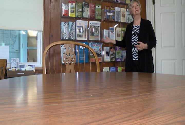 Kaye Iftner discusses various topics at the Pike County Chamber of Commerce
