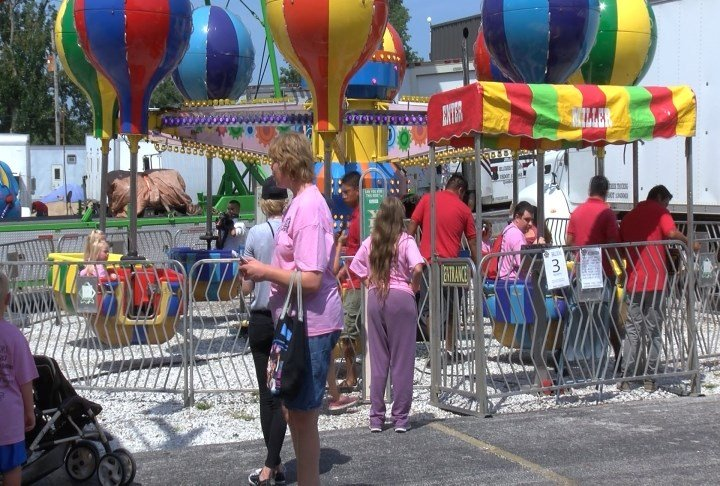 Carnival ride at K of C Barbeque.