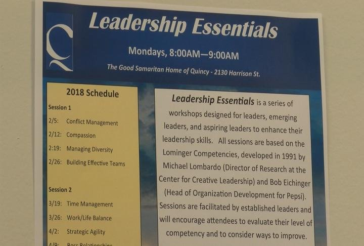 The Quincy Area Chamber of Commerce will be hosting their third leadership session.