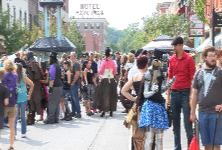 People came from all around the country to Big River Steampunk Festival.