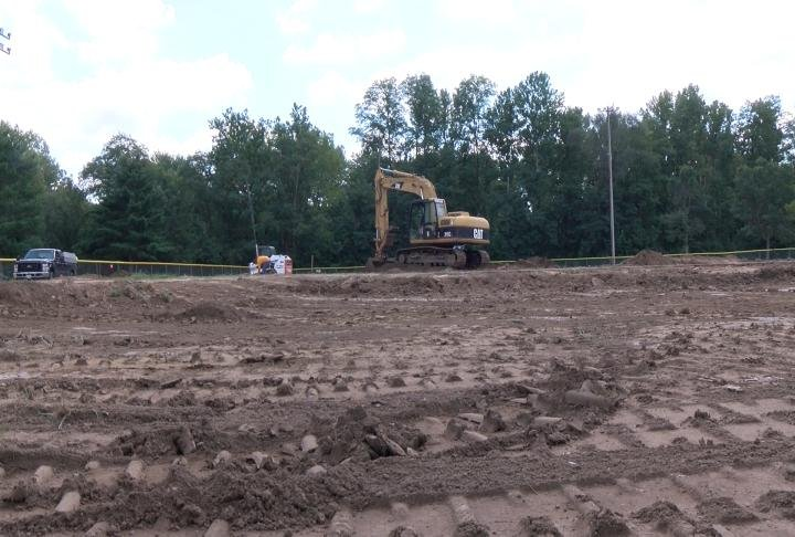 Construction is underway now and is scheduled to be finished in early November.