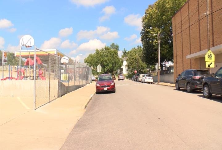 The crosswalk near Holy Family school has had safety concerns in the past.