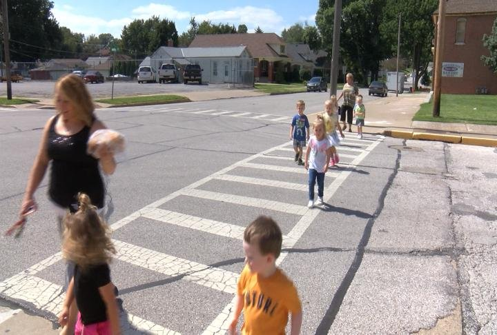 The intersection is a safety concern for the students who walk across it every day.