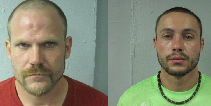 Michael Studer (left) and Gary James Wiltermood III made their first court appearance on Friday.