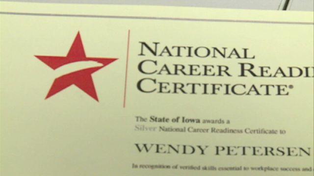 Iowa Workforce Development officials hope certificate helps peop ...
